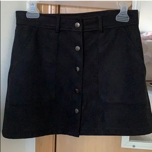Black Suede Forever 21 Skirt Small